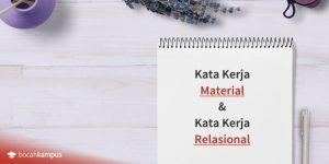 contoh kata kerja material dan kata kerja relasional